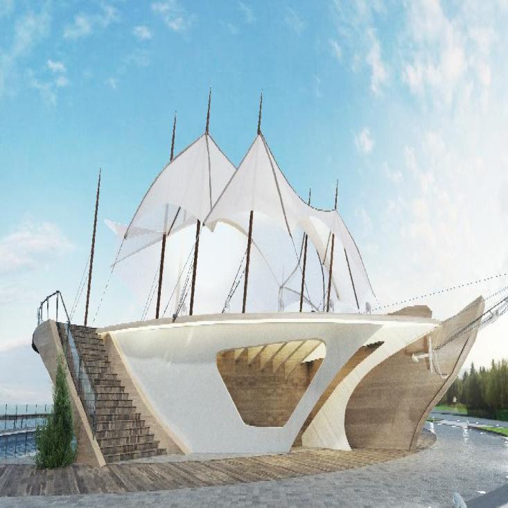 Дизайн проект набережной Адмиралтейской слободы в г. Казань